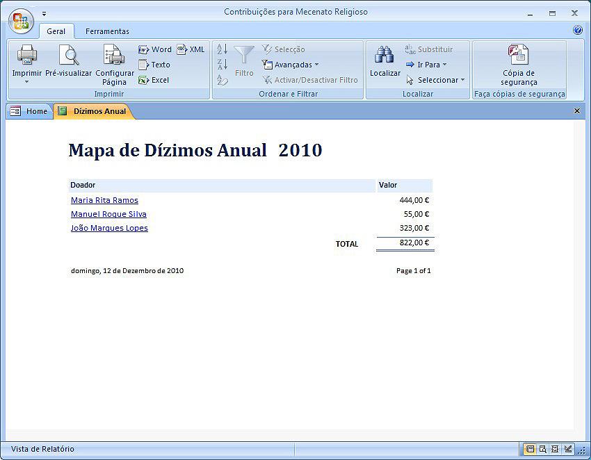 Mapa de Dízimos
